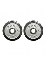 Chrome weight discs 2 x 2.5 kg by HAMMER